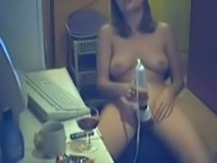 Horny MILF in the study room
