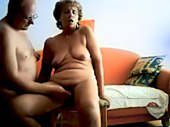 Grannies sucking and fucking on the couch