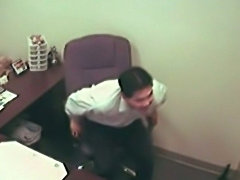 He Gets a Blowjob from the Secretary