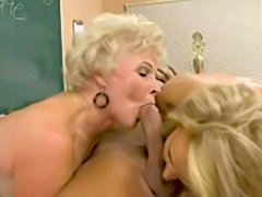 Granny and her milf friend fucks in the classroom