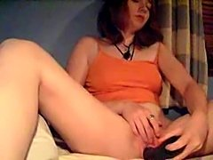 Nice young slut masturbate with a cucumber