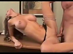 Busty secretary generously lays the boss