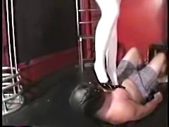 Femdom ball busting and trampling