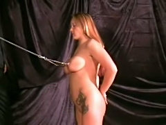 Breast punishment of british slavegirl