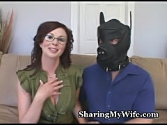 Hot wife shows hubby how he should fuck  free