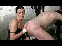 an anal fist after hard caning