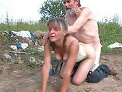 Teen slut fucks bum for money