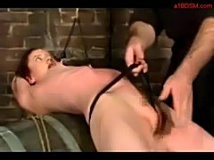 Girl tied to barell whipped pussy stimulated with vibrator b free