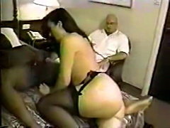 Cuckold pays for diner and hotel and watches his wife get us free