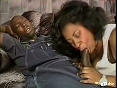 Black mature fucked by ebony prick