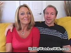 Bree's hubby has always wanted to watch her fuck a younger man. We introduced...
