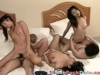 Crazy Asian orgy in the hotel room