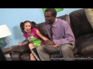 Teen Gets Interracial Sex Therapy! free