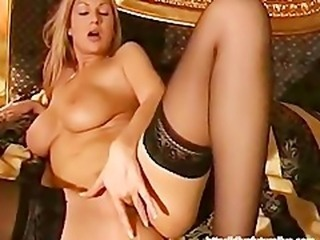 Hot blonde masturbation