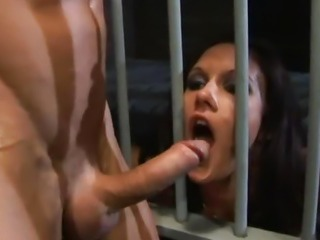Taylor Rain and Jasmine Byrne become prison bitches.