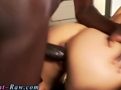 Euro blonde has anal sex with a mandingo