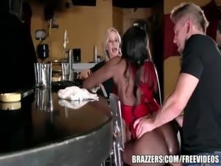 Brazzers - Ebony and ivory, anal threesome free