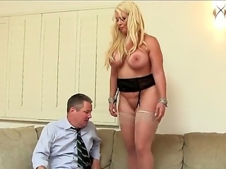 Alura Jenson is a lovely milf with a large ass and huge tits. She is placing...