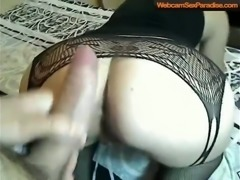 Huge dick closeup anal and pussy sex from behind with a hot girl in black...