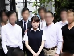 Adorable Oriental schoolgirl gets her tight slit rammed hard