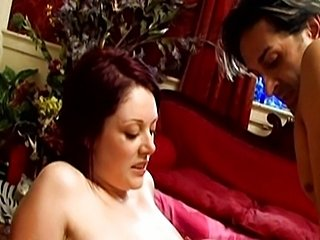 Brunette babe fucked by two gigolos