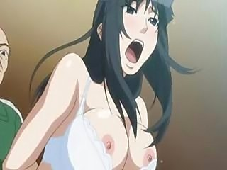 Brunette Asian Hentai gets her pussy plowed so hard she yells