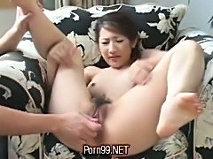 Hot pettings for japanese hairy pussy