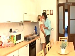 blond milf fucked in the kitchen